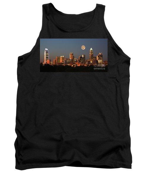 Charlotte City Skyline At Sunset Tank Top