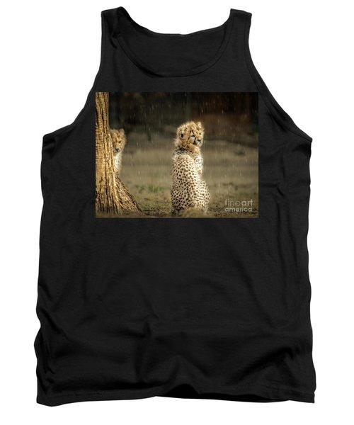 Cheetah Cubs And Rain 0168 Tank Top