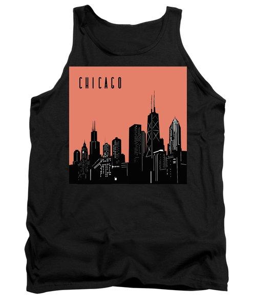 Chicago Skyline Panorama Red Tank Top