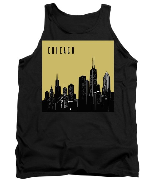 Chicago Skyline Panorama Yellow Tank Top