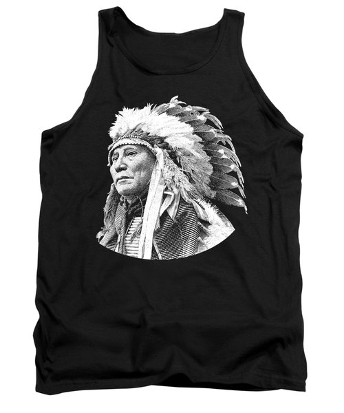 Chief Hollow Horn Bear Graphic Tank Top