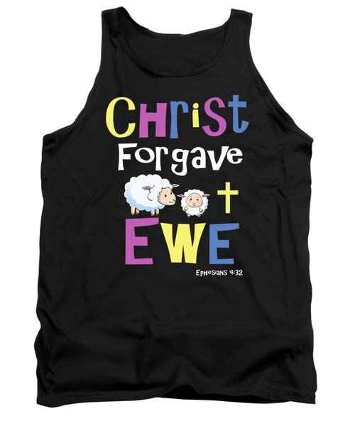 Christian Gifts For Kids Christ Forgave Ewe Tank Top