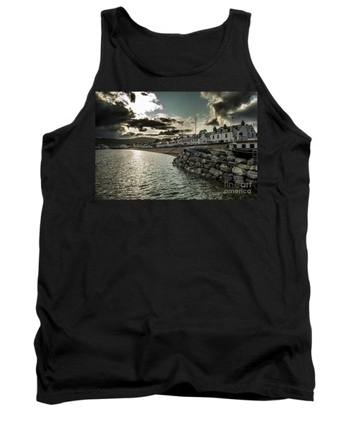 City Of Ullapool With Harbor And Boats Facing Heavy Weather At Loch Broom In Scotland Tank Top