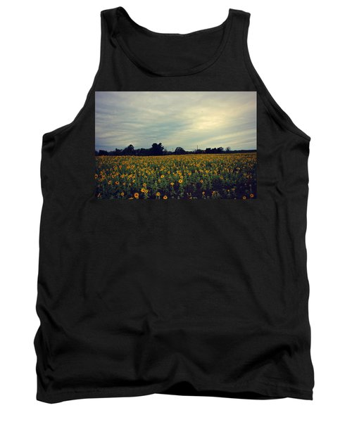 Cloudy Sunflowers Tank Top