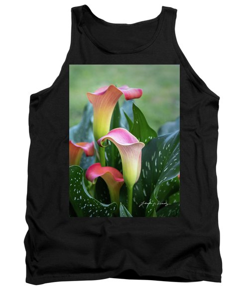 Colorful Spring Flowers Tank Top