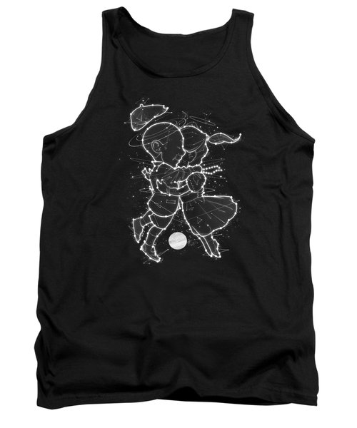 Cosmo And Celeste Colorful Cosmological Night Sky Couple In Love  Tank Top