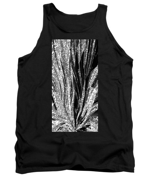 Crystal Floral Black Opposite Tank Top