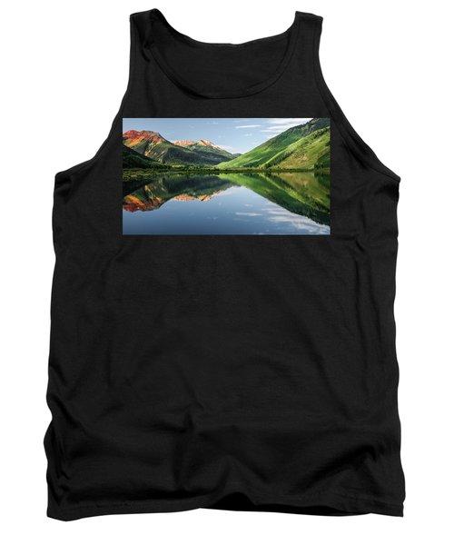 Crystal Lake Red Mountain Reflection Tank Top