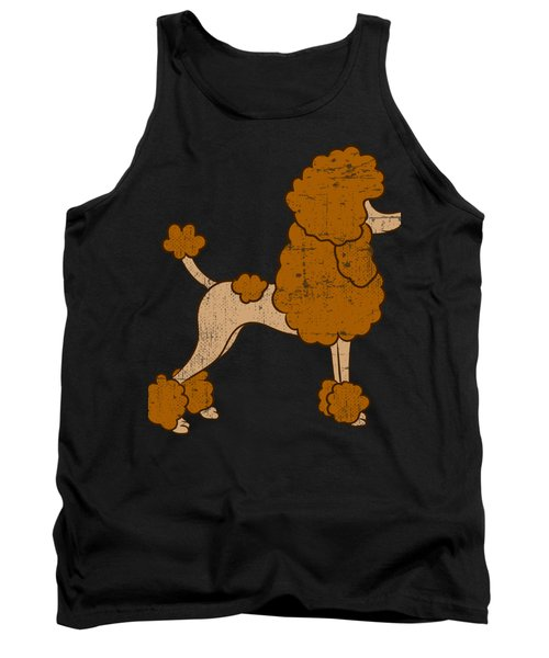 Cute Brown Poodle Gift For Dog Breed Poodle Lover Tshirt Design For The Poodle Enthusiast Tank Top