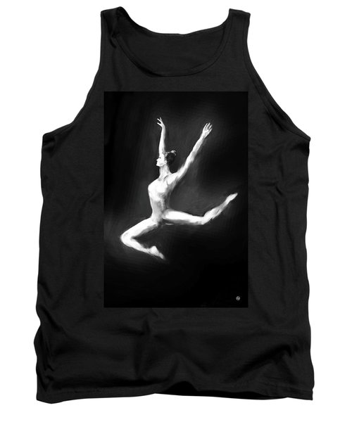 Dancer In Black And White Tank Top