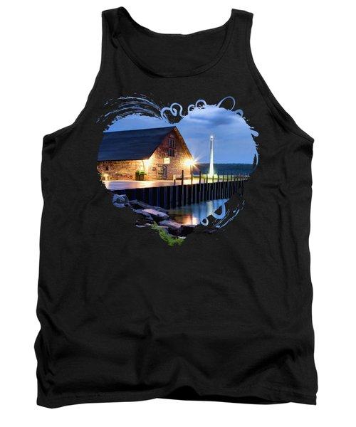 Door County Anderson Dock Twilight Tank Top