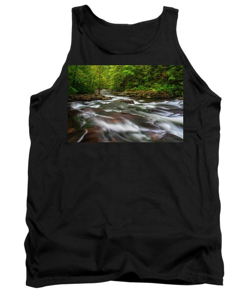 Tank Top featuring the photograph Down The Tellico River by Andy Crawford