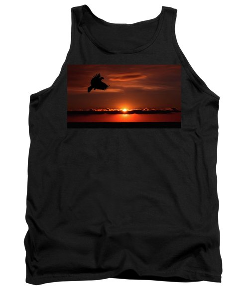 Eagle In A Red Sky Tank Top