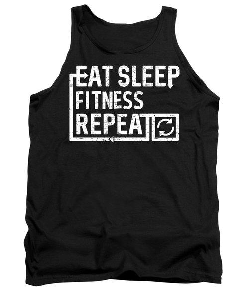 Eat Sleep Fitness Tank Top