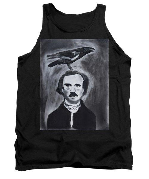 Edgar Allen Poe Drawing Tank Top