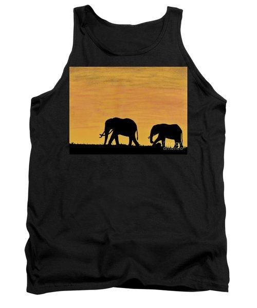 Elephants - At - Sunset Tank Top