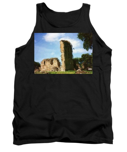 Elgin Cathedral Ruins Painting Tank Top