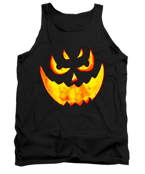 Evil Glowing Pumpkin Tank Top