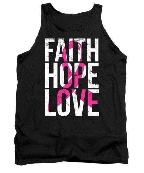 Faith Hope Love Breast Cancer Awareness Tank Top
