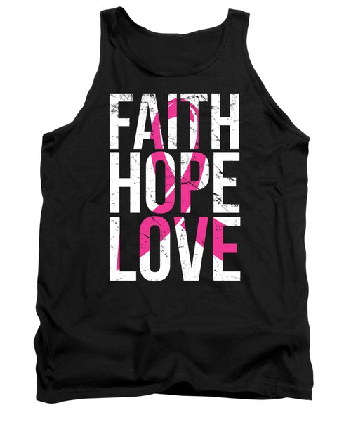 Faith Hope Love Breast Cancer Awareness Tank Top