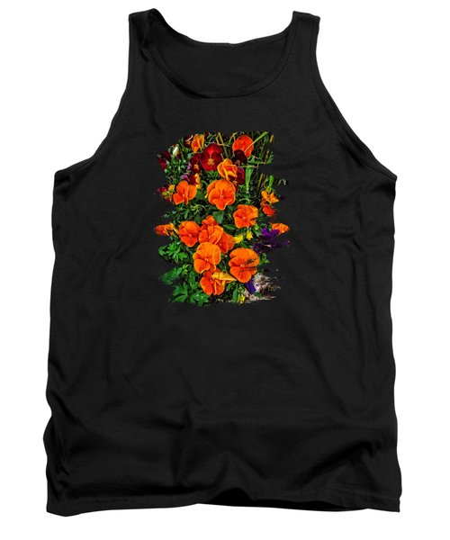 Fall Pansies Tank Top