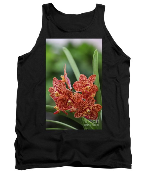 Family Of Orange Spotted Orchids Tank Top