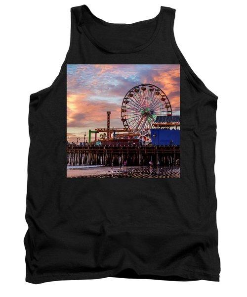 Ferris Wheel On The Pier - Square Tank Top