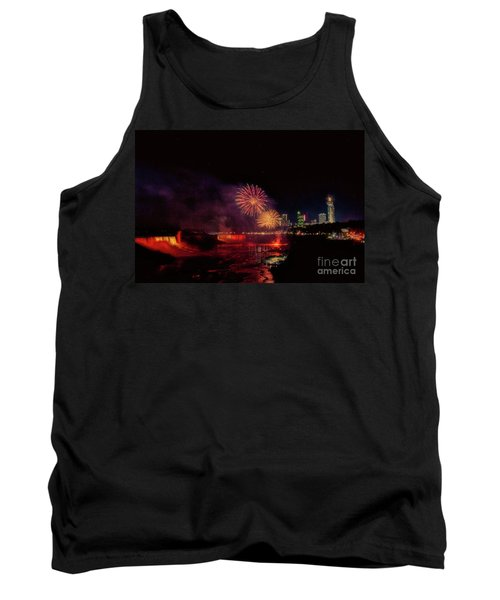 Fireworks Over The Falls. Tank Top