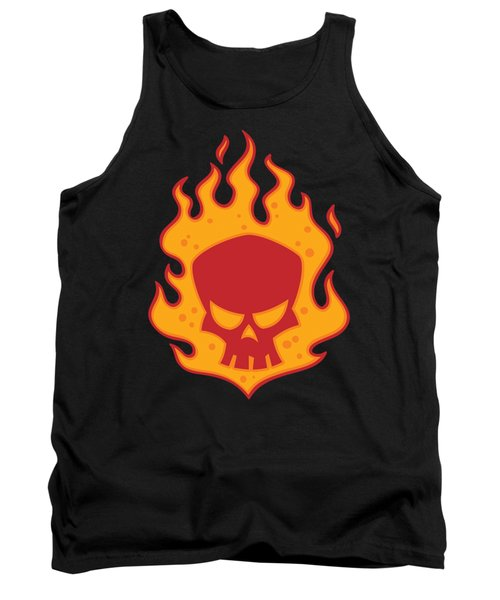 Flaming Skull Tank Top