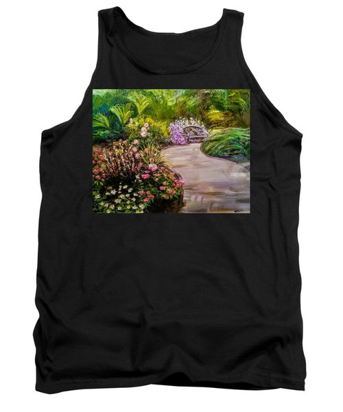 Path To The Garden Bench At Evergreen Arboretum Tank Top