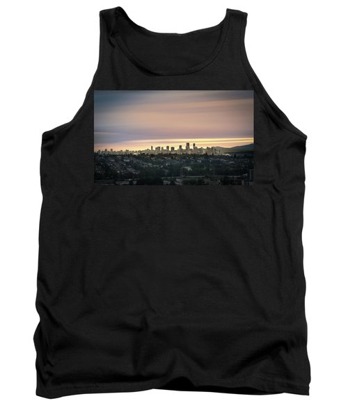 Golden Sky On Vancouver Tank Top