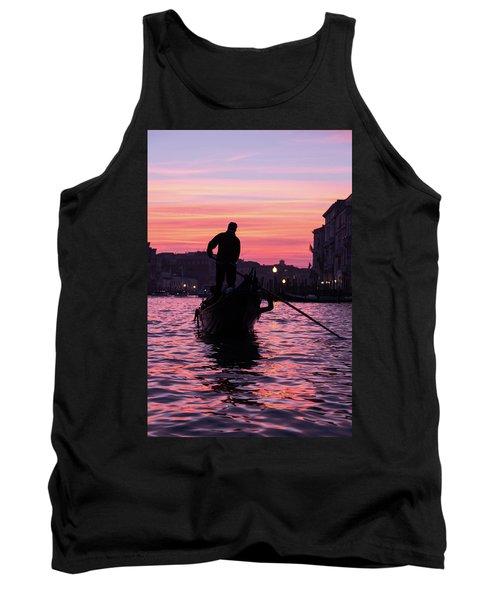 Gondolier At Sunset Tank Top