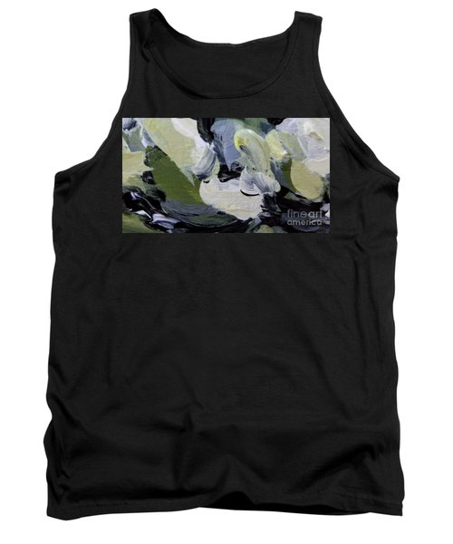 Tank Top featuring the painting Green #2 by Maria Langgle