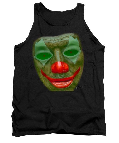 Green Clown Face Tank Top
