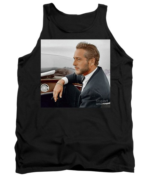 Hand Colored Picture Of Paul Newman Tank Top