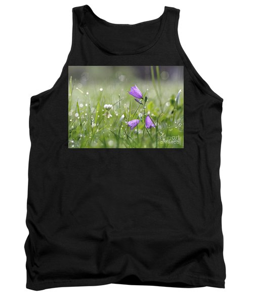 Harebells And Water Drops Tank Top