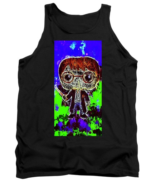 Tank Top featuring the mixed media Harry Potter Pop by Al Matra