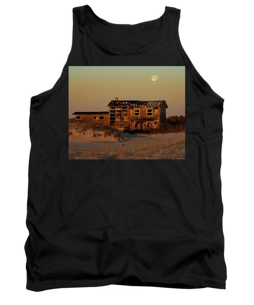 Clements House With Full Moon Behind Tank Top