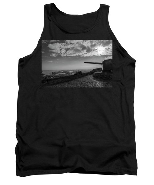 Tank Top featuring the photograph Heavy Weapons And A Light Lunch by Alex Lapidus