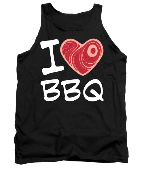 I Love Bbq - White Text Version Tank Top
