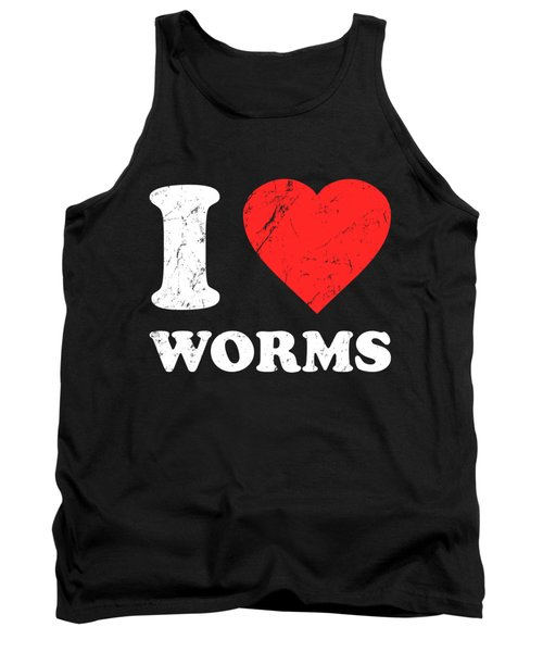 I Love Worms Tank Top