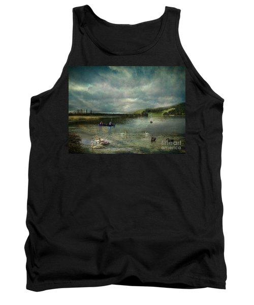 Idyllic Swans Lake Tank Top