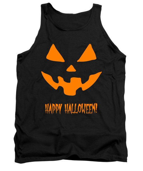 Jackolantern Happy Halloween Pumpkin Tank Top