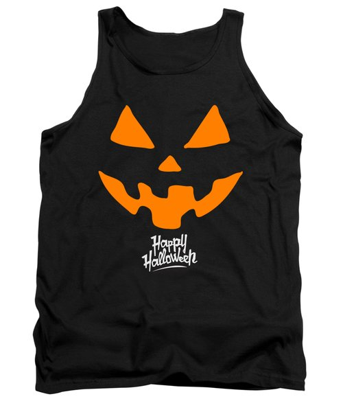 Jackolantern Pumpkin Happy Halloween Tank Top