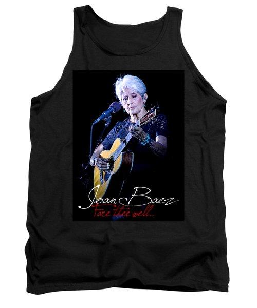 Joan Baez  Live Fare Thee Well Print Art Tank Top