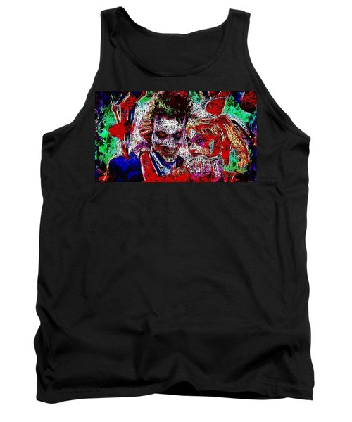 Tank Top featuring the mixed media Joker And Harley Quinn 2 by Al Matra