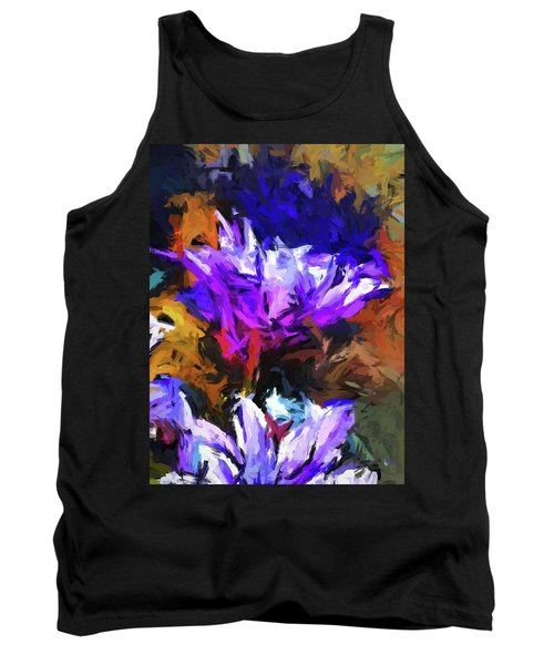 Lavender Flower And The Cobalt Blue Reflection Tank Top