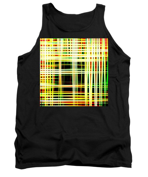 Lines And Squares In Color Waves - Plb418 Tank Top