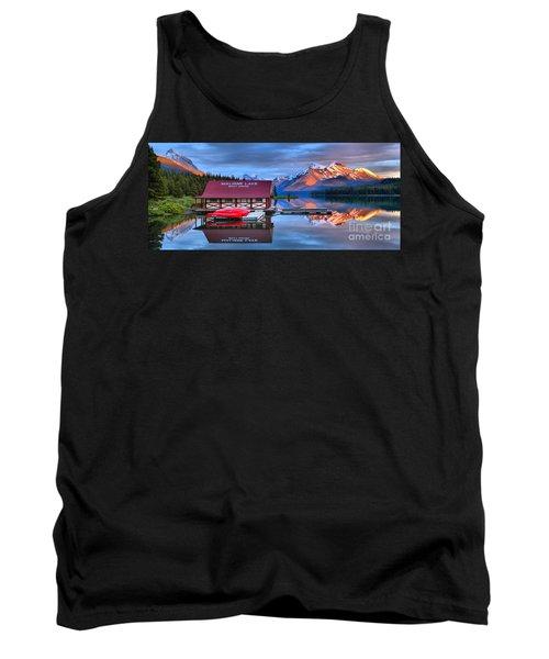 Maligne Lake Sunset Spectacular Tank Top