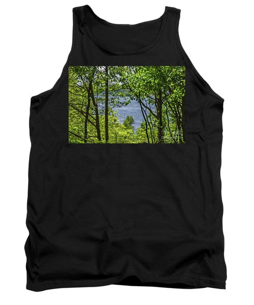 Manistee Lake Through The Trees Tank Top